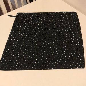 Urban Outfitters Black Star Silk Scarf